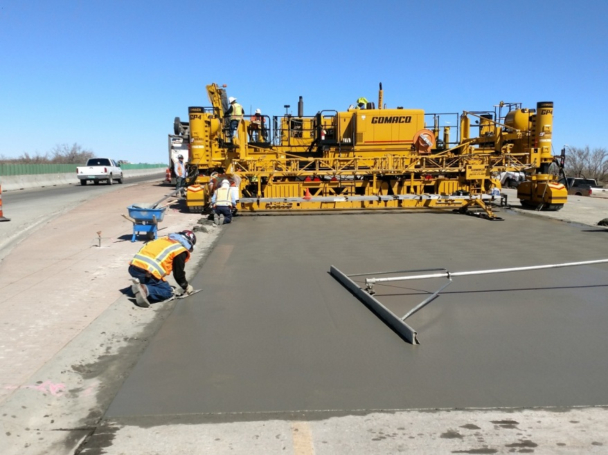 Paving Pete Domenici highway New Mexico