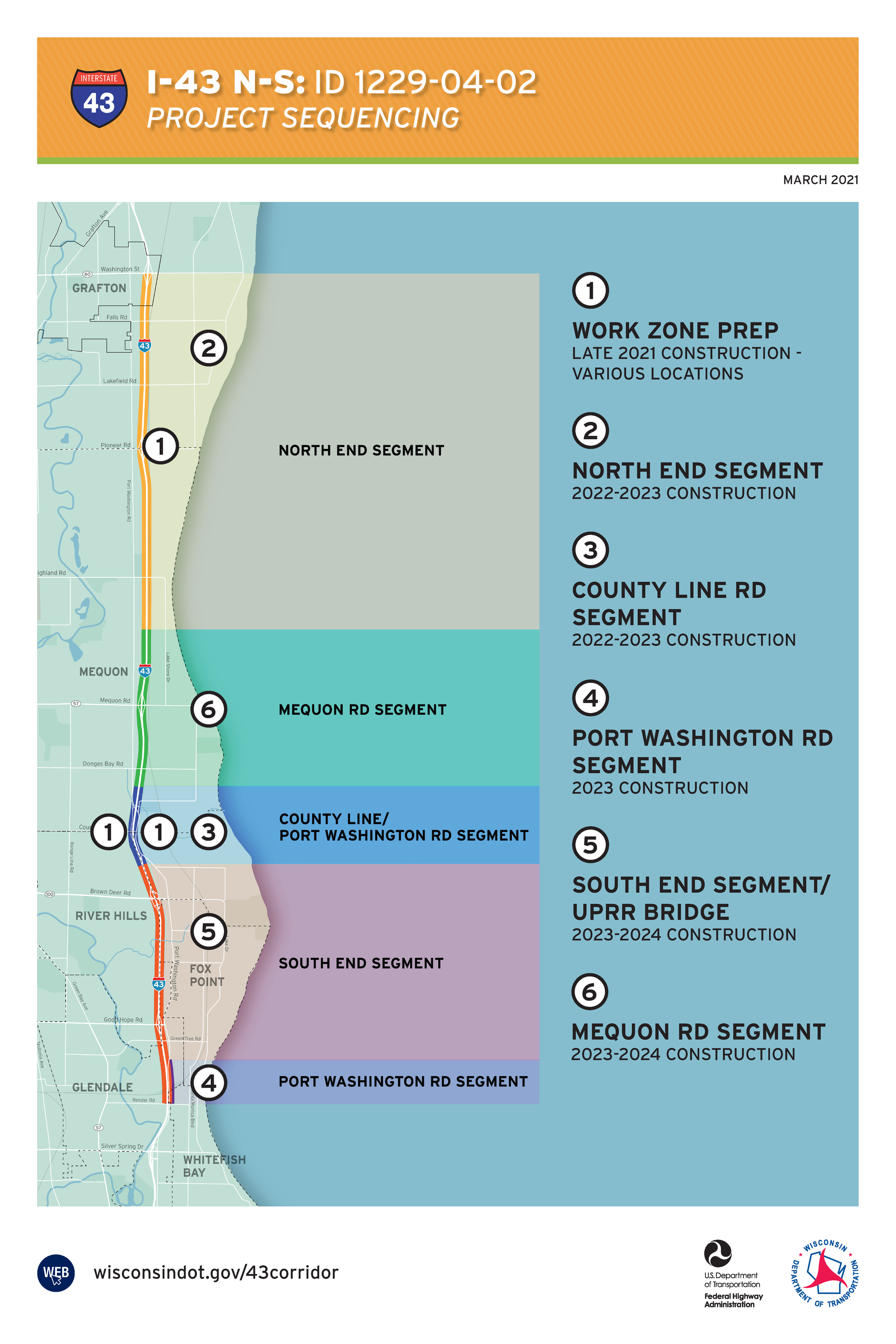 I-43 North-South Freeway project map