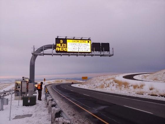 Oregon snow safety project I-84 award
